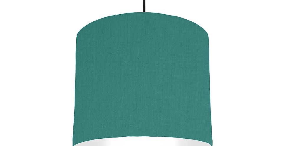 Jade & White Lampshade - 25cm Wide