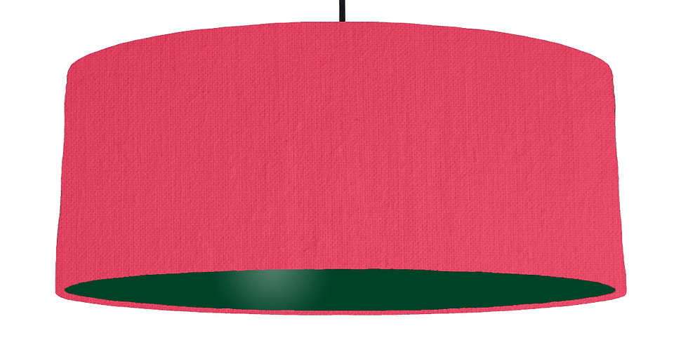 Cerise & Forest Green Lampshade - 70cm Wide