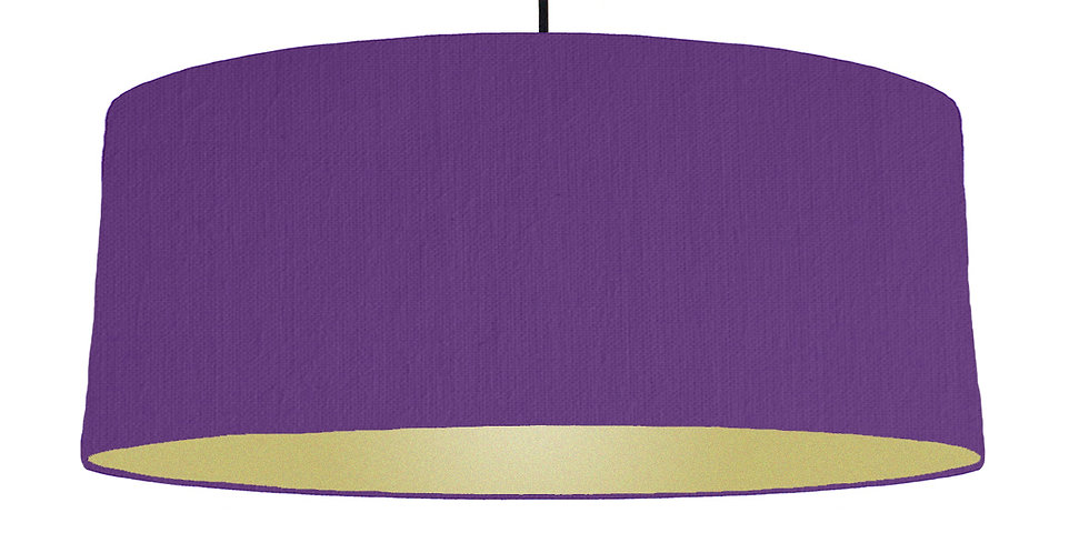 Violet & Gold Matt Lampshade - 70cm Wide