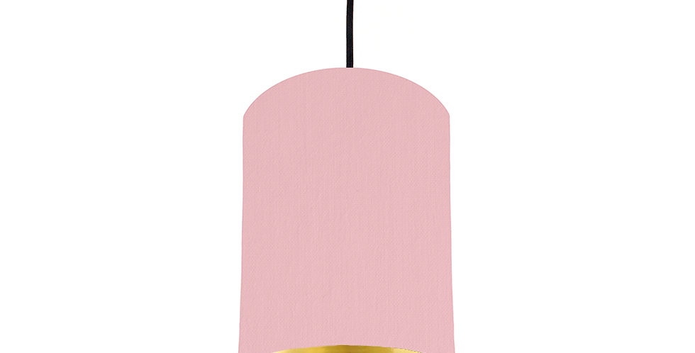 Pink & Gold Mirrored Lampshade - 15cm Wide