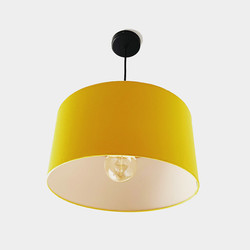 Mustard ivory lampshade