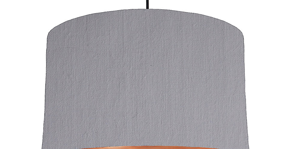 Light Grey & Brushed Copper Lampshade - 40cm Wide