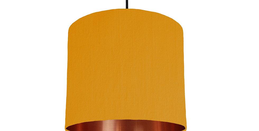 Mustard & Copper Mirrored Lampshade - 25cm Wide