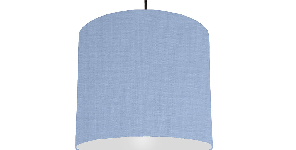 Sky Blue & Light Grey Lampshade - 25cm Wide