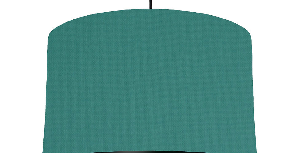 Jade & Black Lampshade - 40cm Wide