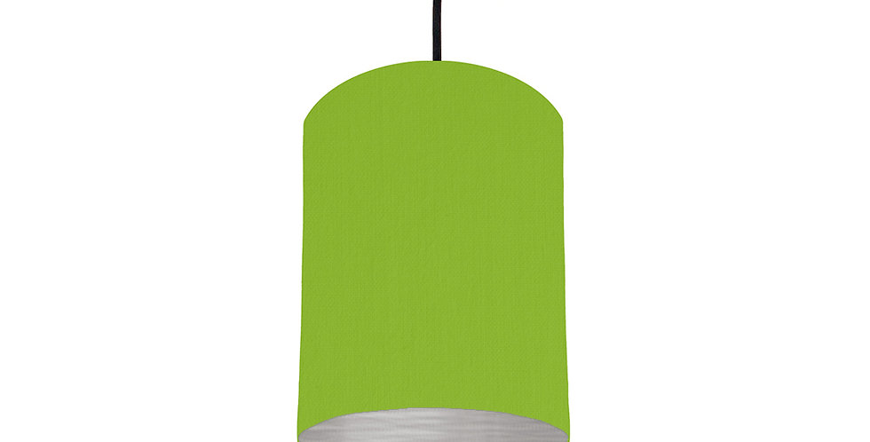 Pistachio & Brushed Silver Lampshade - 15cm Wide