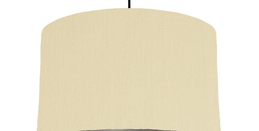 Natural & Dark Grey Lampshade - 40cm Wide