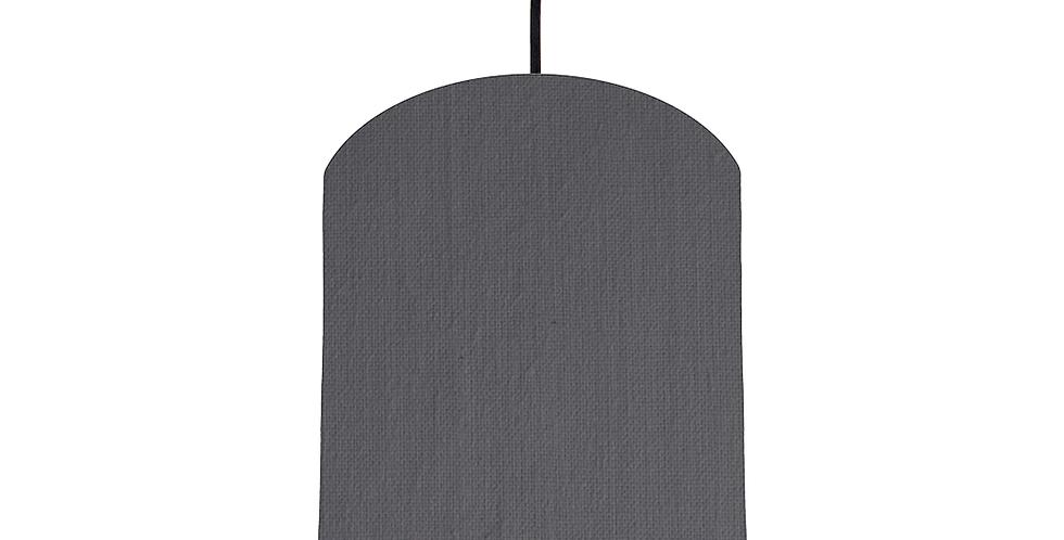 Dark Grey & Silver Mirrored Lampshade - 20cm Wide