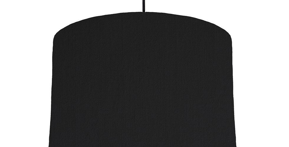 Black & Black Lampshade - 30cm Wide
