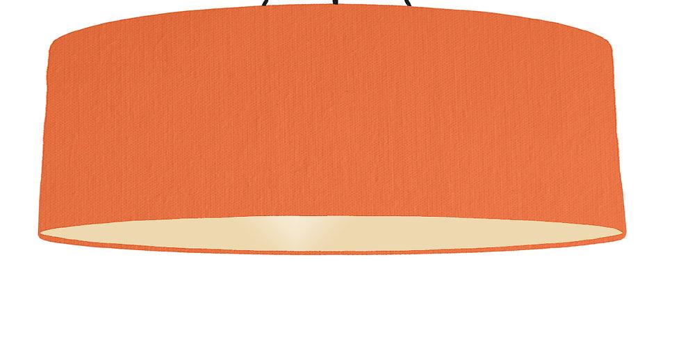 Orange & Ivory Lampshade - 100cm Wide