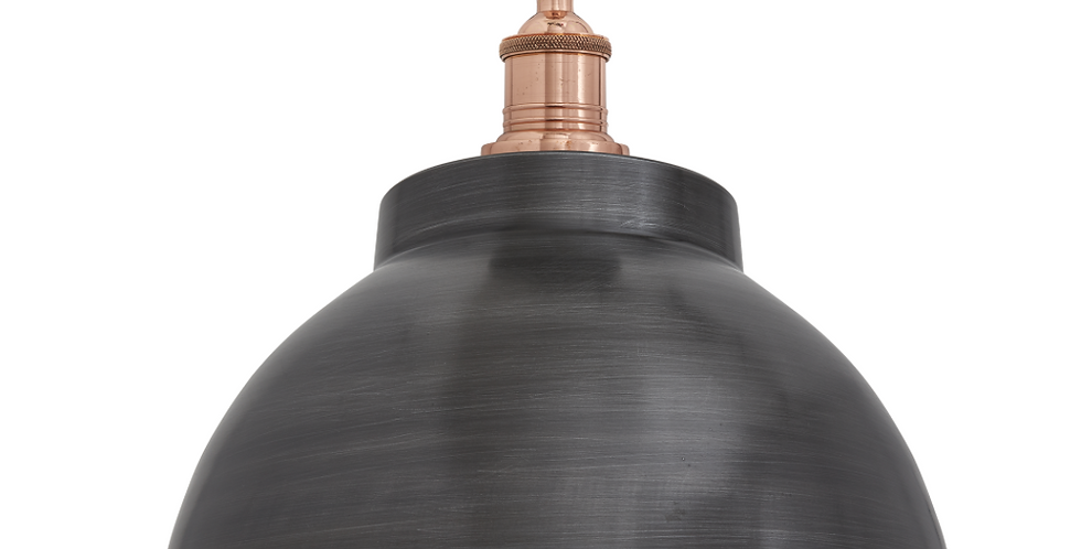 Industville Brooklyn Dome Pendant - Pewter & Copper
