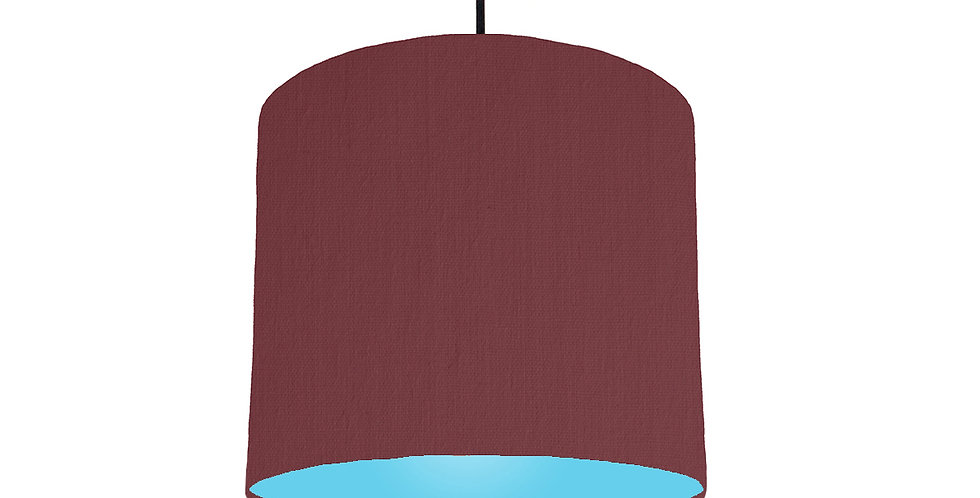 Wine Red & Light Blue Lampshade - 25cm Wide