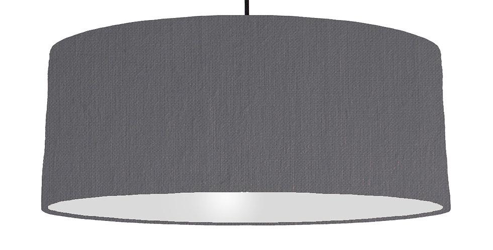 Dark Grey & Light Grey Lampshade - 70cm Wide