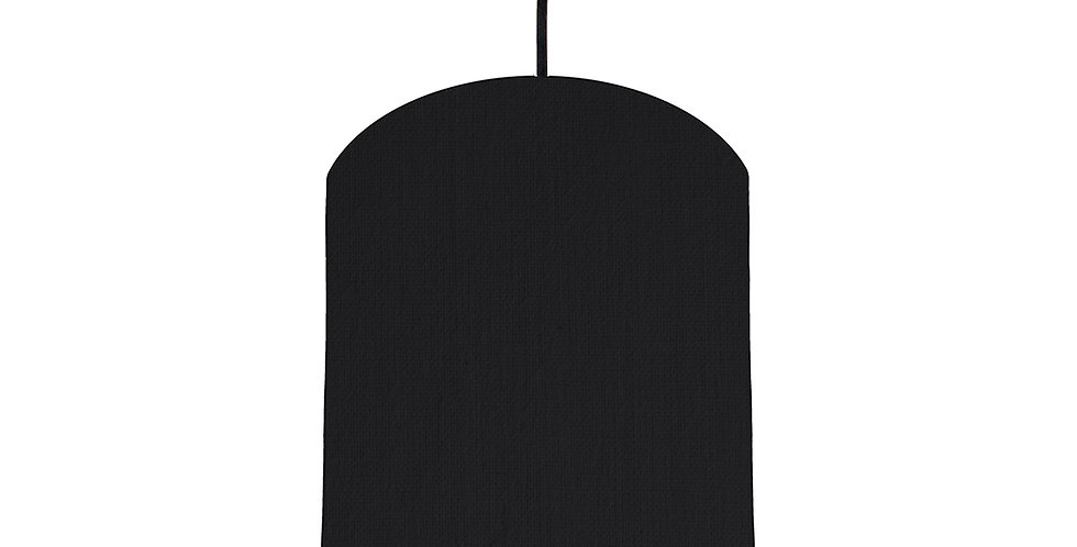 Black & Pink Lampshade - 20cm Wide