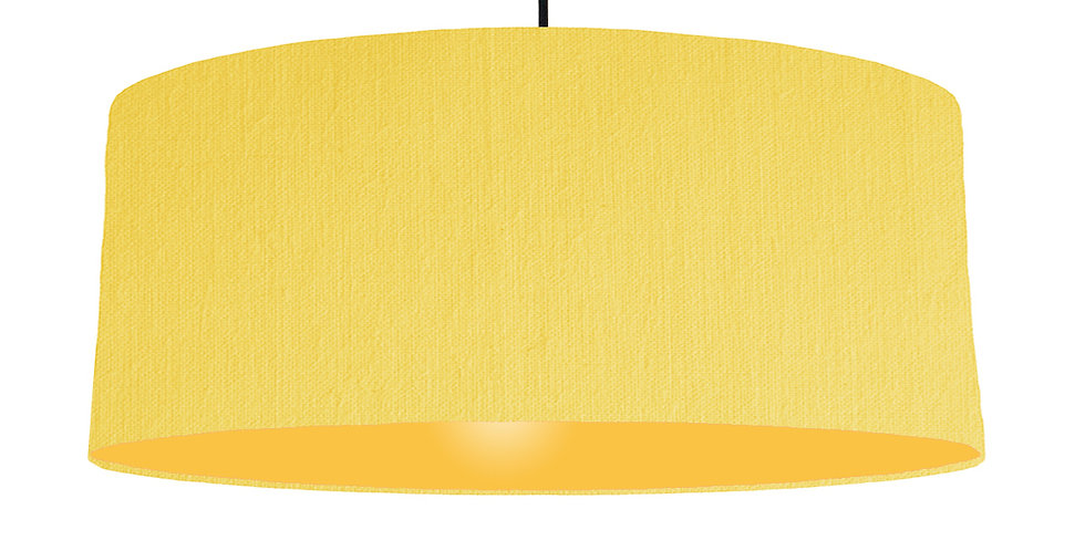 Lemon & Butter Yellow Lampshade - 70cm Wide