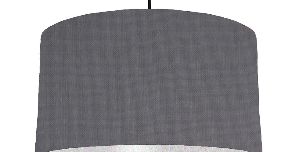 Dark Grey & Silver Lampshade - 50cm Wide