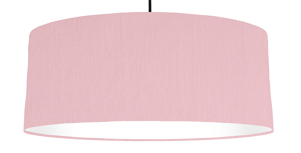 Pink & White Lampshade - 70cm Wide