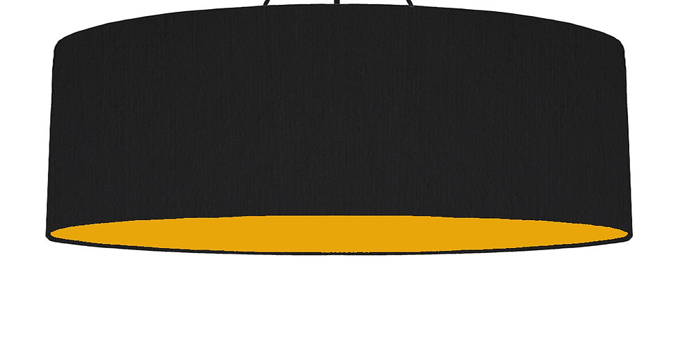 Black & Mustard Lampshade - 100cm Wide