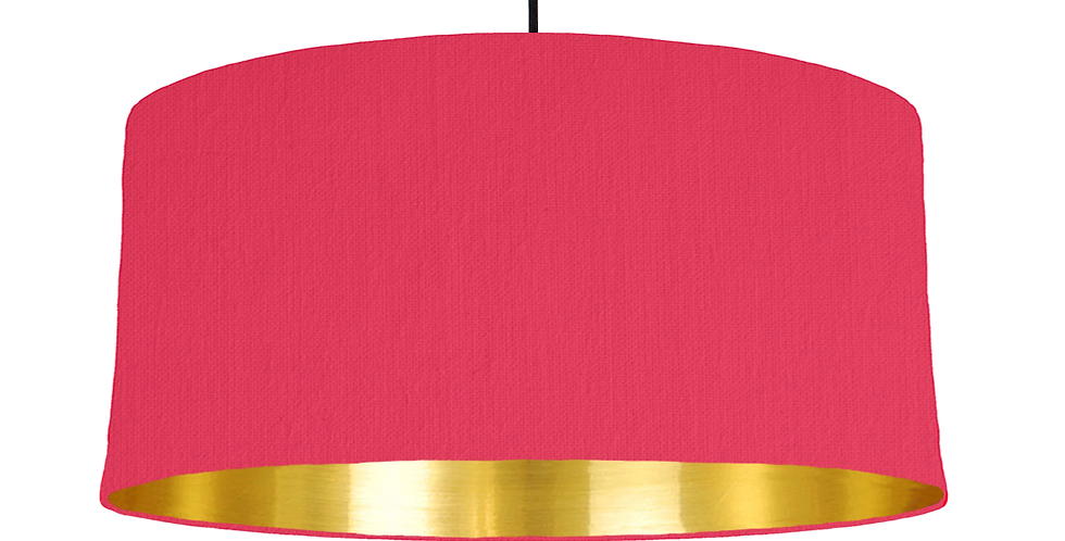 Cerise & Gold Mirrored Lampshade - 60cm Wide