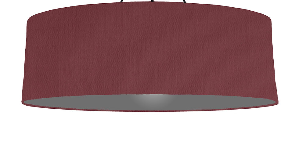 Wine Red & Dark Grey Lampshade - 100cm Wide