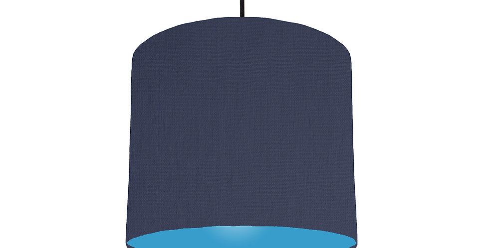 Navy Blue & Light Blue Lampshade - 25cm Wide