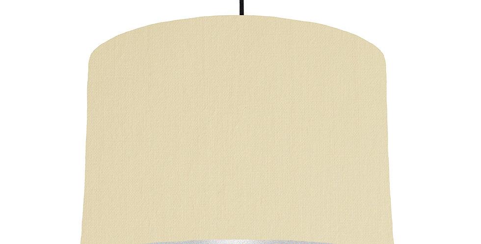 Natural & Silver Matt Lampshade - 30cm Wide