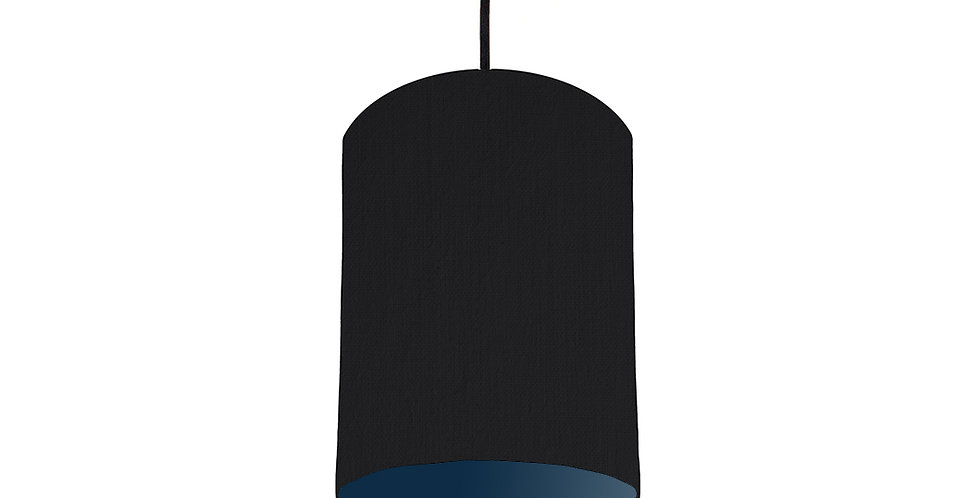Black & Navy Lampshade - 15cm Wide