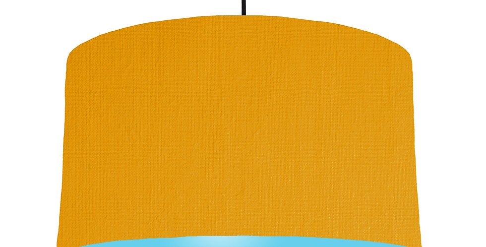 Mustard & Light Blue Lampshade - 50cm Wide
