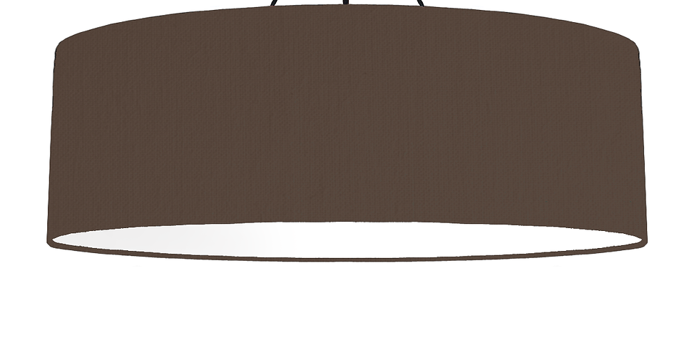 Brown & White Lampshade - 100cm Wide