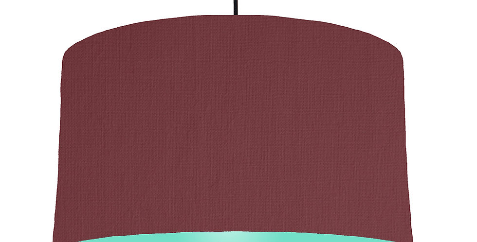 Wine Red & Mint Lampshade - 50cm Wide
