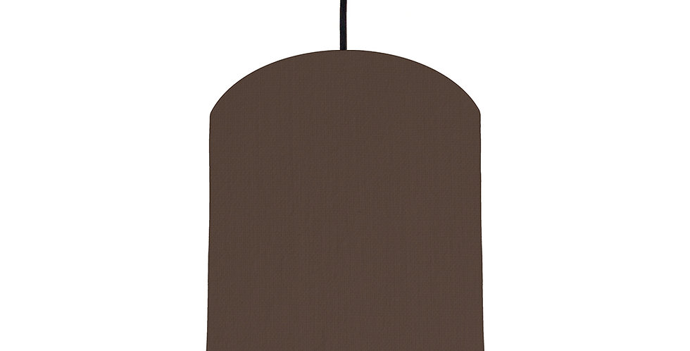 Brown & Forest Green Lampshade - 20cm Wide