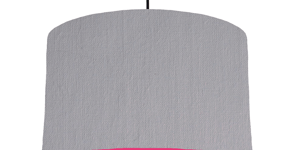 Light Grey & Magenta Lampshade - 40cm Wide