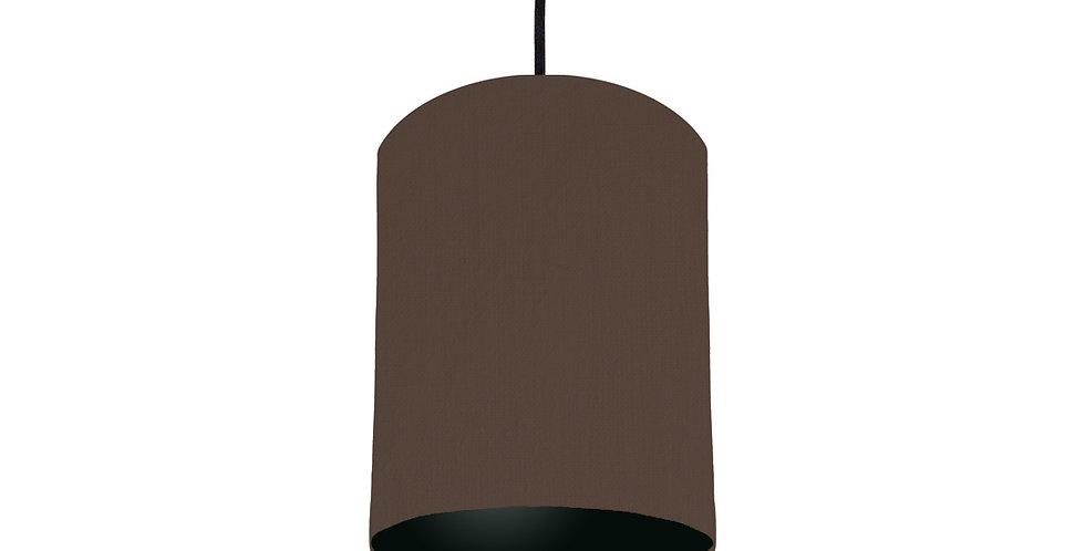 Brown & Black Lampshade - 15cm Wide