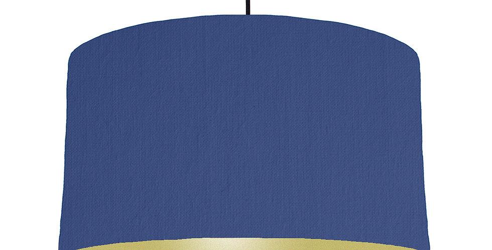 Royal Blue & Gold Matt Lampshade - 50cm Wide