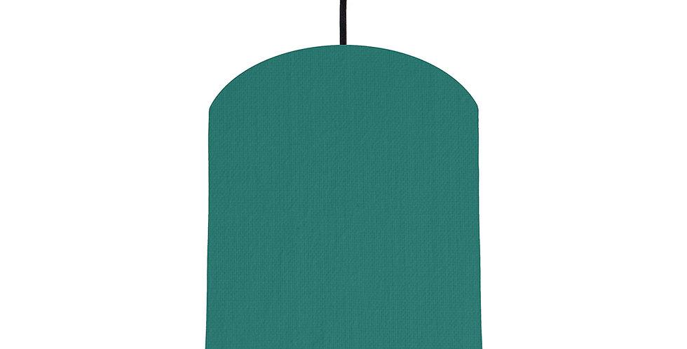 Jade & Dark Grey Lampshade - 20cm Wide