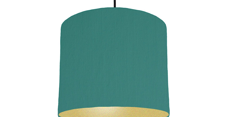 Jade & Gold Matt Lampshade - 25cm Wide
