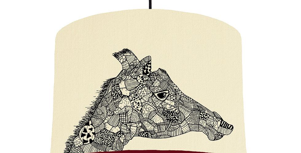 Giraffe - Natural & Burgundy