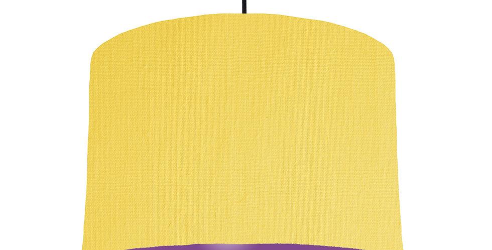 Lemon & Purple Lampshade - 30cm Wide