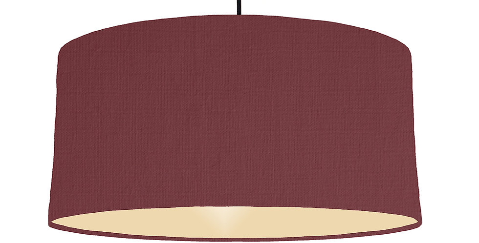 Wine Red & Ivory Lampshade - 60cm Wide