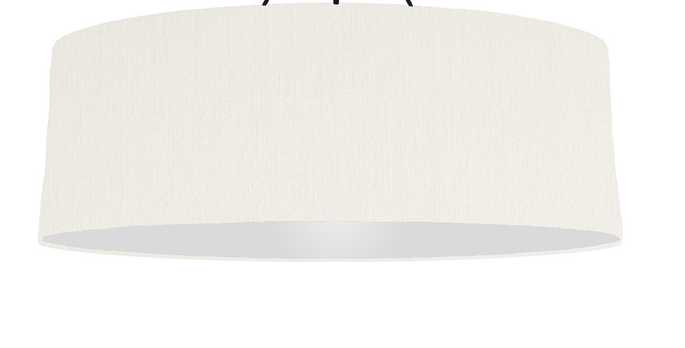 White & Light Grey Lampshade - 100cm Wide