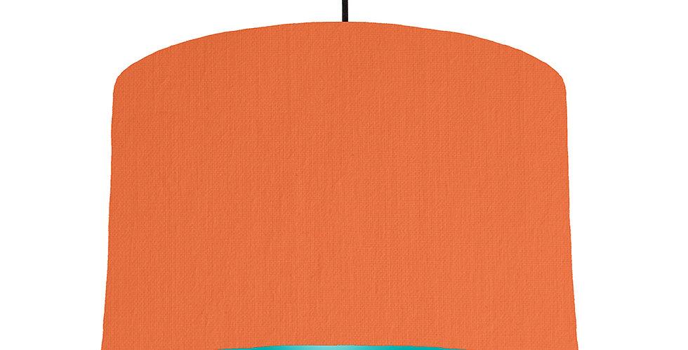 Orange & Turquoise Lampshade - 40cm Wide