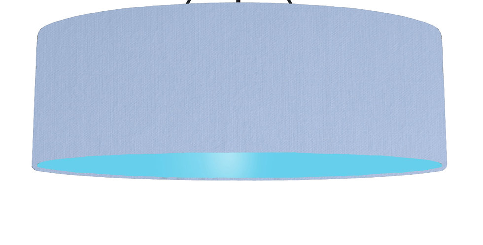 Sky Blue & Light Blue Lampshade - 100cm Wide