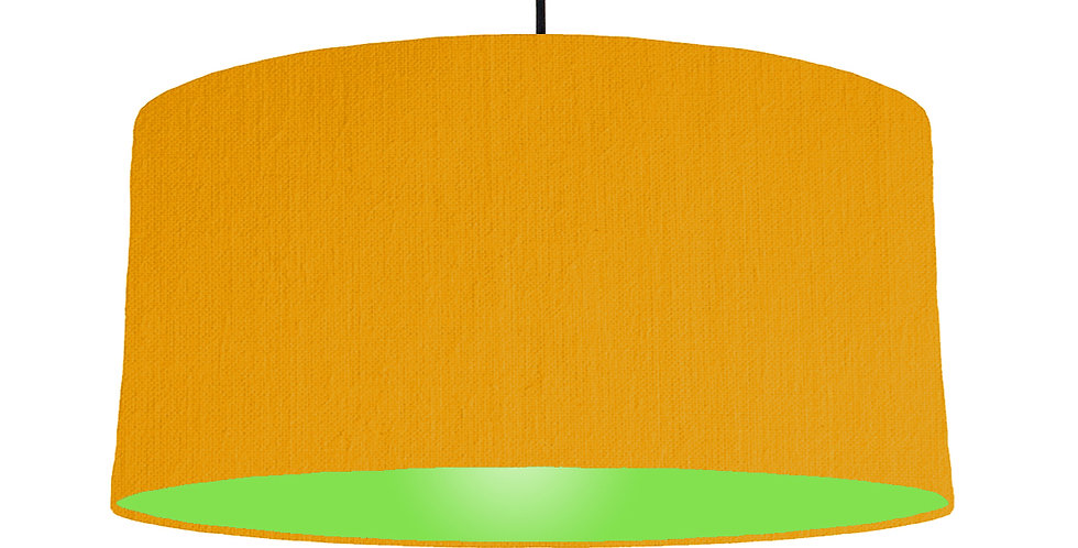 Mustard & Lime Green Lampshade - 60cm Wide