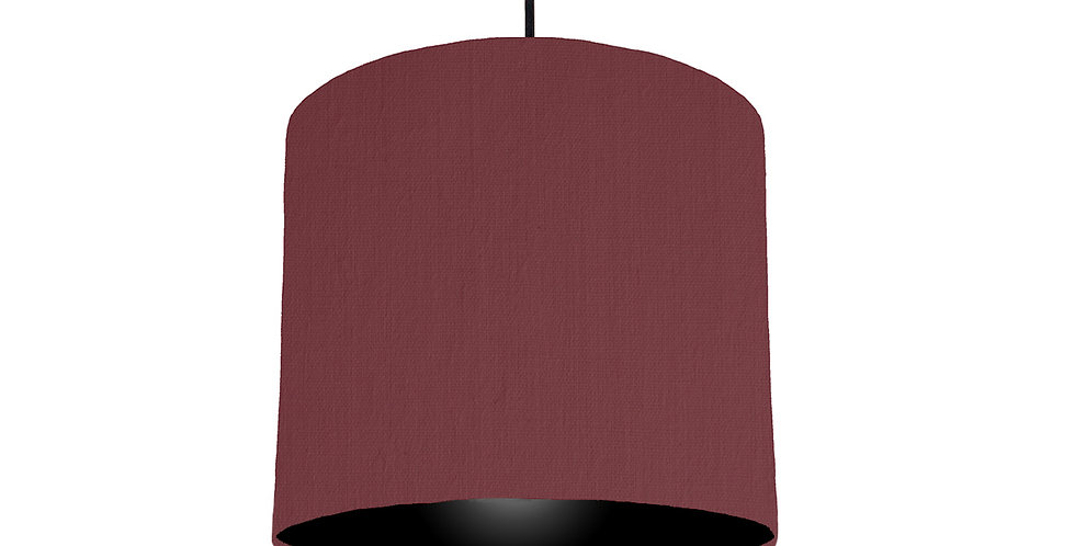 Wine Red & Black Lampshade - 25cm Wide