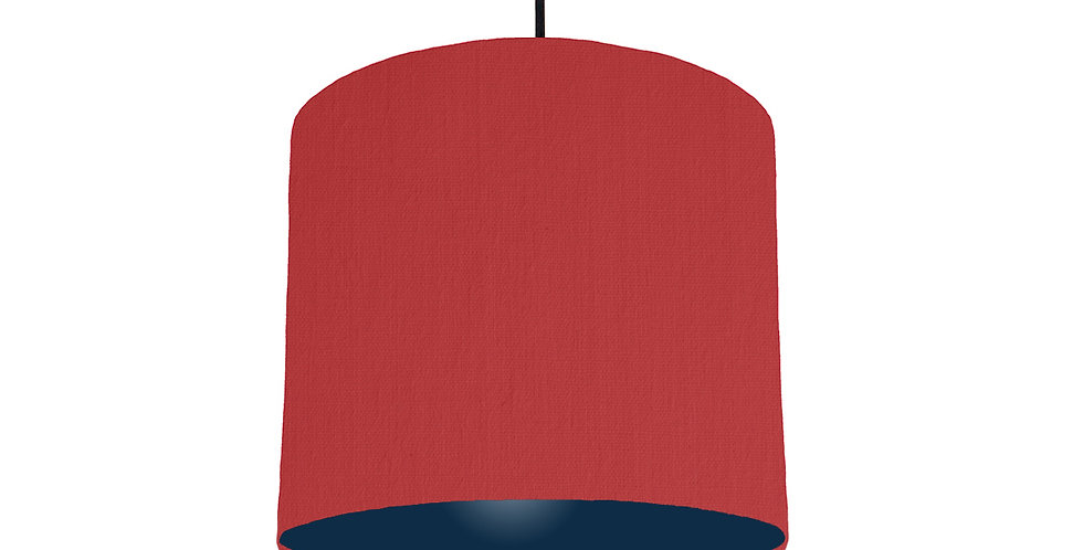 Red & Navy Lampshade - 25cm Wide