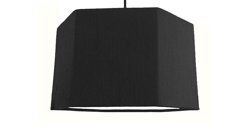 Black & White Hexagon Lampshade - 30cm Wide