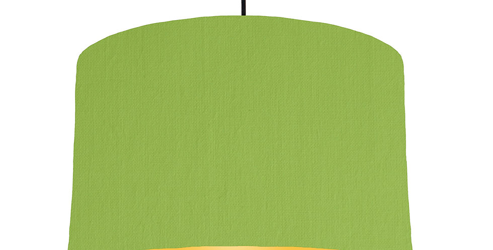 Pistachio & Butter Yellow Lampshade - 40cm Wide