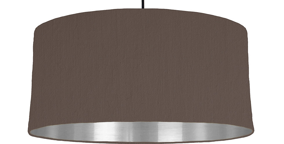 Brown & Silver Mirrored Lampshade - 60cm Wide