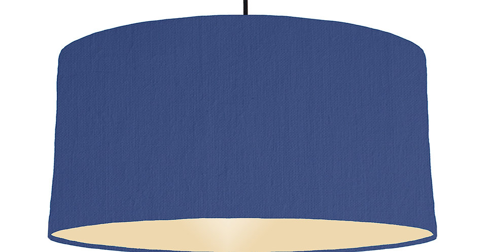 Royal Blue & Ivory Lampshade - 60cm Wide