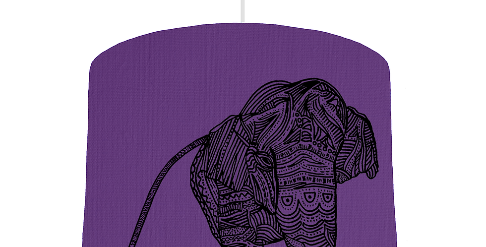 Elephant Shade - Violet Fabric